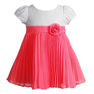 LITTLE GIRLS 3T, YOUNGLAND CORAL AND WHITE DRESS